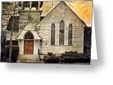 Old Church Greeting Card by Jill Battaglia