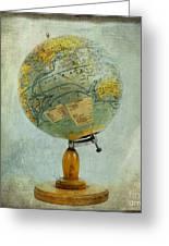 Old Globe Greeting Card by Bernard Jaubert
