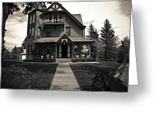 Old House Greeting Card by Darren Langlois
