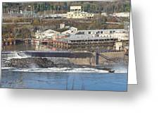 Old Industrial Complex Panorama Oregon City Or. Greeting Card by Gino Rigucci