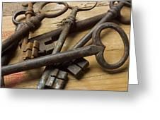 Old Keys Greeting Card by Bernard Jaubert