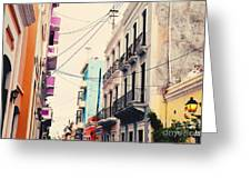 Old San Juan Puerto Rico Greeting Card by Kim Fearheiley