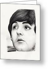 Paul Mccartney Greeting Card by Rosalinda Markle
