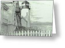 Pemaquid lighthouse  Greeting Card by Jack Skinner