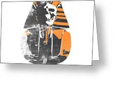 Pharaoh Stencil  Greeting Card by Pixel  Chimp