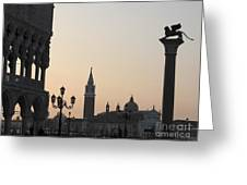 Piazetta. Venice Greeting Card by Bernard Jaubert