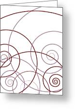 Pink And Red Abstract Greeting Card by Frank Tschakert