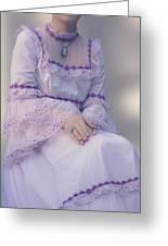 Pink Wedding Dress Greeting Card by Joana Kruse