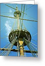 Pirate Ship Greeting Card by Joana Kruse