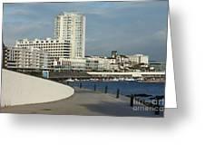 Ponta Delgada Waterfront Greeting Card by Gaspar Avila