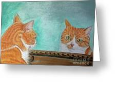 Pretty Kitty Greeting Card by Teresa Vecere