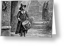 PURITAN CHURCH DRUMMER Greeting Card by Granger