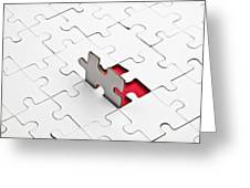 Puzzle Greeting Card by Joana Kruse