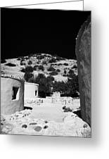 reconstruction of Choirokoitia ancient neolithic village settlement republic of cyprus Greeting Card by Joe Fox