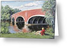 Red Of The Charles Greeting Card by Steven A Simpson