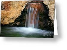 Red Waterfall Greeting Card by Carlos Caetano