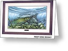 Reef King Musky Greeting Card by JQ Licensing