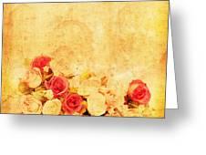 Retro Flower Pattern Greeting Card by Setsiri Silapasuwanchai