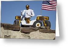Robonaut 2 Poses Atop Its New Wheeled Greeting Card by Stocktrek Images