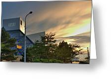 Rock And Roll Hall Of Fame Greeting Card by David Bearden