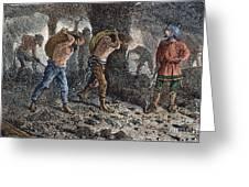 Roman Slavery: Coal Mine Greeting Card by Granger