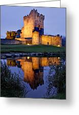 Ross Castle At Night Killarney Ireland Greeting Card by Pierre Leclerc Photography