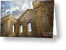 Ruins of a church in South Glengarry Greeting Card by Sandra Cunningham