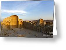 Ruins Of Shivta Byzantine Church Greeting Card by Nir Ben-Yosef