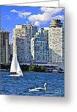 Sailing In Toronto Harbor Greeting Card by Elena Elisseeva
