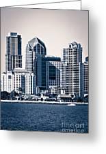 San Diego Skyline Greeting Card by Paul Velgos