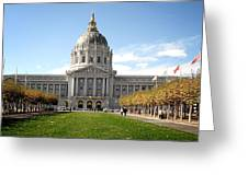 San Francisco City Hall - Beaux Arts At Its Best Greeting Card by Christine Till