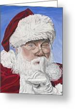 Santa Claus Greeting Card by Patty Vicknair