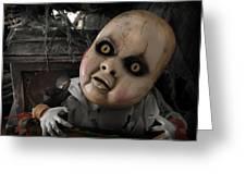 Scary Doll Greeting Card by Craig Incardone