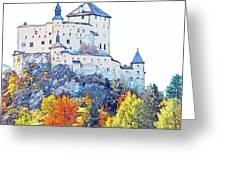 Schloss Tarasp Switzerland Greeting Card by Joseph Hendrix