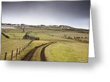 Scottish Borders, Scotland Tire Tracks Greeting Card by John Short