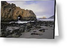 Sea Arch At Pfeiffer Beach Big Sur Greeting Card by Tim Fitzharris