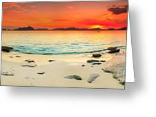 Seascape Panorama Greeting Card by MotHaiBaPhoto Prints
