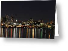 Seattle Skyline Greeting Card by Michael Gass