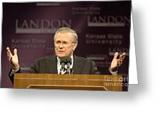 Secretary Of Defense Donald H. Rumsfeld Greeting Card by Stocktrek Images