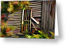 SHED Greeting Card by Suni Roveto