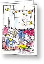 Shop Window Paris Greeting Card by Marilyn MacGregor