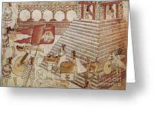Siege Of Tenochtitlan 1521 Greeting Card by Photo Researchers