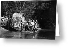 Silent Film Still: Natives Greeting Card by Granger
