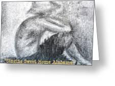 Singing Sweet Home Alabama Greeting Card by Helena Bebirian