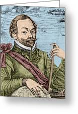 Sir Francis Drake, English Explorer Greeting Card by Photo Researchers, Inc.