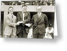 Sisler, Ruth & Cobb, 1924 Greeting Card by Granger