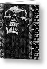 Skull Montage Greeting Card by Roseanne Jones
