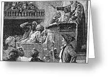 Slaves In Court, 1741 Greeting Card by Granger
