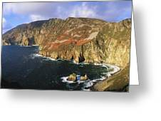 Slieve League, Co Donegal, Ireland Greeting Card by The Irish Image Collection