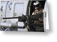 Soldier Mans A .50 Caliber Machine Gun Greeting Card by Stocktrek Images